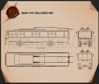 Skoda 14Tr Trolleybus 1982 Blueprint