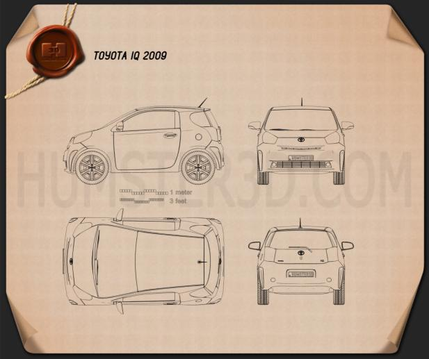 Toyota IQ 2009 Blueprint