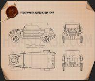 Volkswagen Kubelwagen 1945 Blueprint