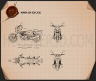 Honda CB 1100 2010 Blueprint