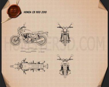 Honda CB 1100 2010 Blueprint