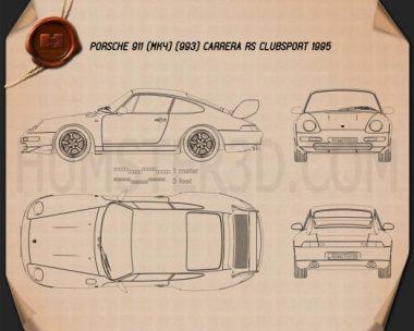 Porsche 911 Carrera RS Clubsport (993) 1995 Blueprint