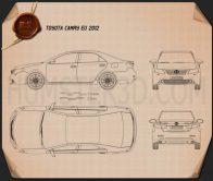 Toyota Camry EU (Aurion) 2012 Blueprint