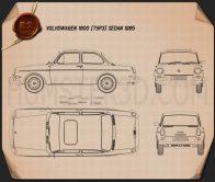 Volkswagen Type 3 (1600) sedan 1965 Blueprint