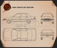 Honda Concerto (MA) sedan 1988 Blueprint