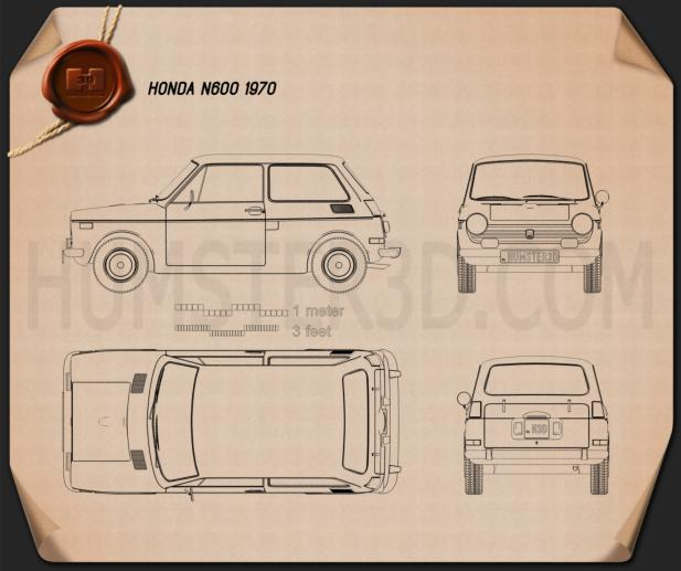 Honda N600 1970 Blueprint