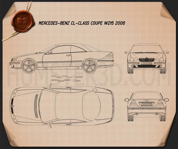 Mercedes-Benz CL-Class (W215) 2006 Blueprint