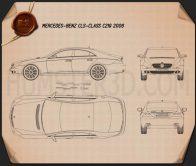 Mercedes-Benz CLS-Class (C219) 2006 Blueprint