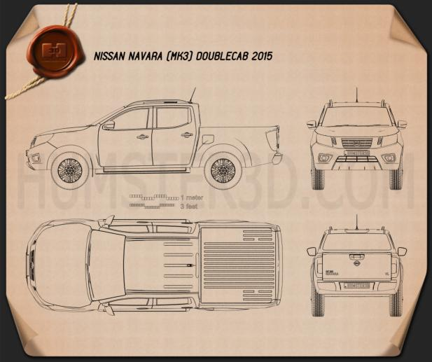 Nissan Navara Double Cab 2015 Blueprint