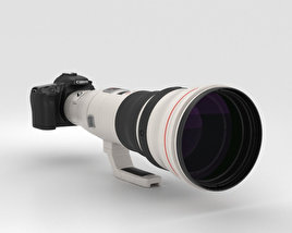Canon EOS 70D with EF 800mm F/5.6L IS USM 3D model