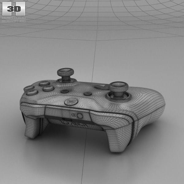 D Line Drawings Xbox : Microsoft xbox one s controller d model hum