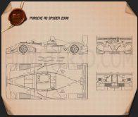Porsche RS Spyder 2008 Blueprint