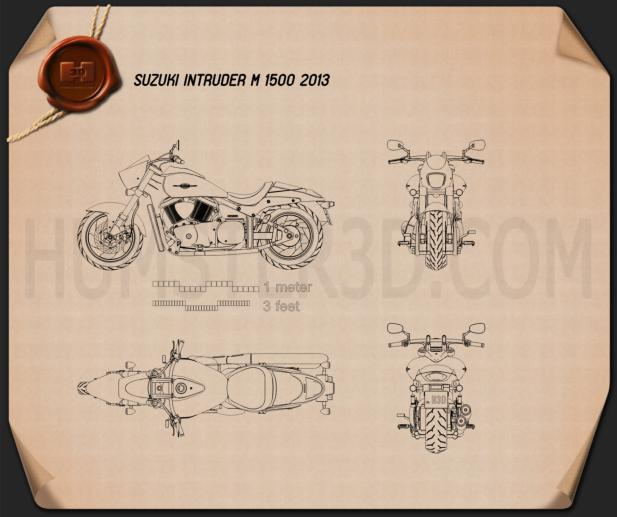 Suzuki Intruder M1500 2013 Blueprint