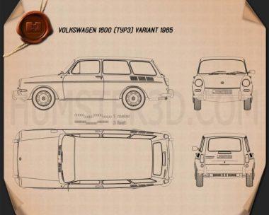 Volkswagen Type 3 (1600) variant 1965 Blueprint