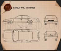 Chevrolet Impala SS 1995 Blueprint