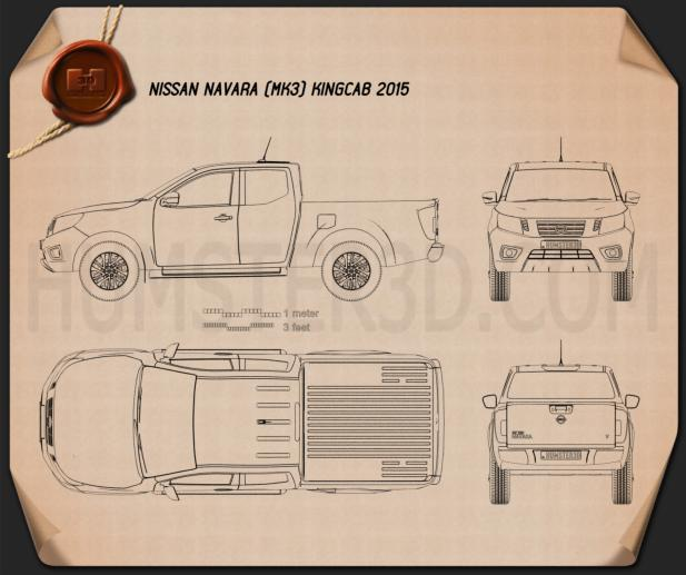 Nissan Navara King Cab 2015 Blueprint