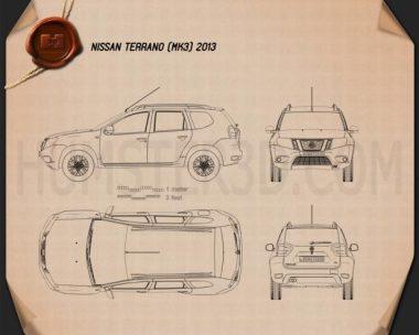 Nissan Terrano 2013 Blueprint