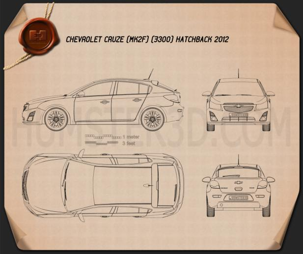 Chevrolet Cruze hatchback 2013 Blueprint