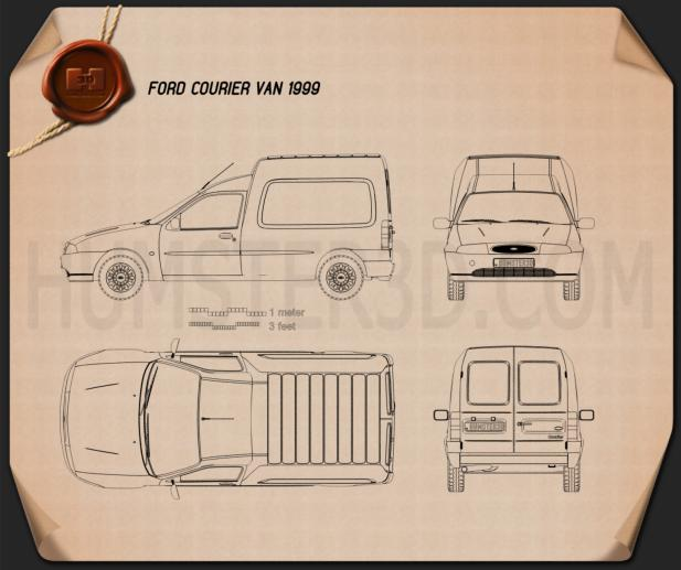 Ford Courier Van UK 1999 Blueprint