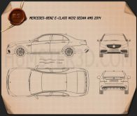 Mercedes-Benz E-Class 63 AMG 2014 Blueprint