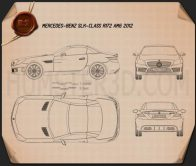 Mercedes-Benz SLK-class 55 AMG 2012 Blueprint