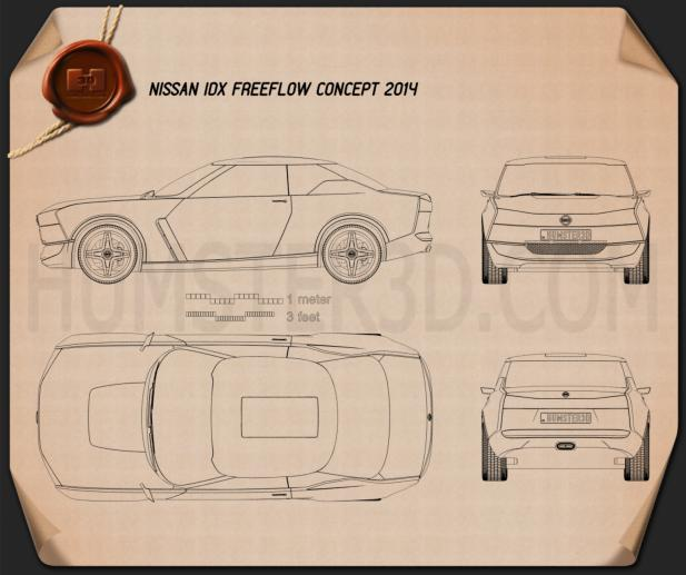 Nissan IDx Freeflow 2014 Blueprint