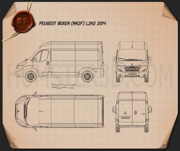 Peugeot Boxer L2H2 2014 Blueprint