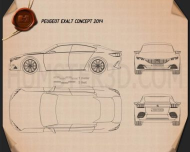 Peugeot Exalt 2014 Blueprint