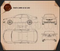 Toyota Camry US SE 2012 Blueprint