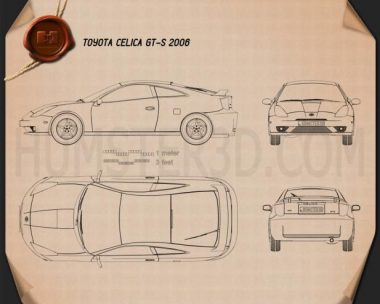 Toyota Celica GT-S 2006 Blueprint