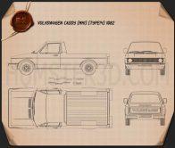 Volkswagen Caddy (Type 14) 1982 Blueprint