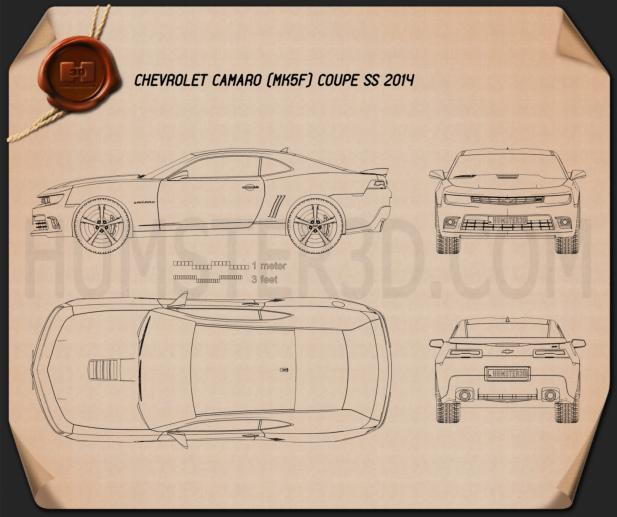 Chevrolet Camaro SS coupe 2014 Blueprint