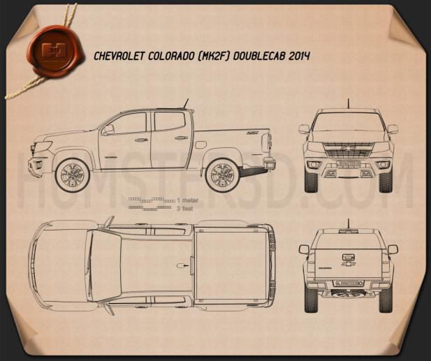 Chevrolet Colorado Double Cab 2014 Blueprint