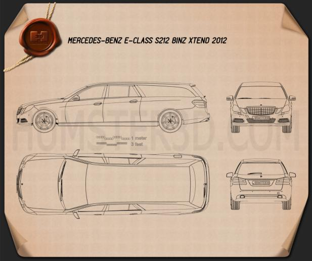Mercedes-Benz E-Class Binz Xtend 2012 Blueprint