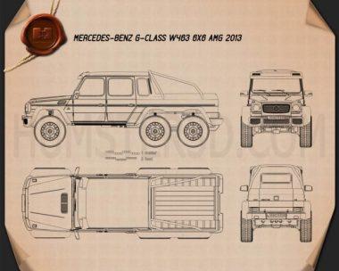 Mercedes-Benz G-Class 6×6 AMG 2013 Blueprint