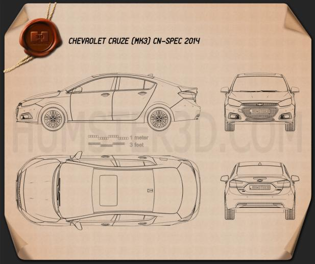 Chevrolet Cruze (CN) 2014 Blueprint