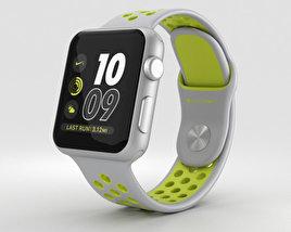 Apple Watch Nike+ 38mm Silver Aluminum Case Flat Silver/Volt Nike Sport Band 3D model