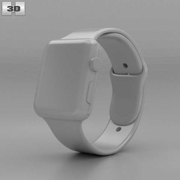 Apple Watch Series 2 42mm Silver Aluminum Case White Sport