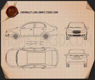 Chevrolet Lova (T250) 2010 Blueprint