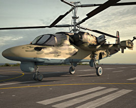 Kamov Ka-52 Alligator 3D model