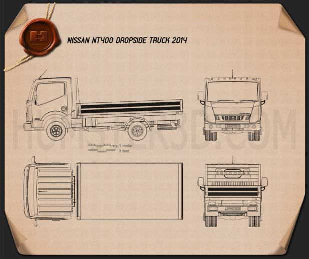 Nissan NT400 Dropside Truck 2014 Blueprint