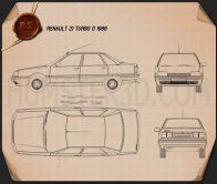 Renault 21 1986 Blueprint