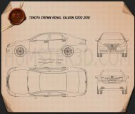 Toyota Crown Royal Saloon (S200) 2010 Blueprint