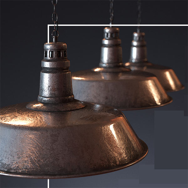 Lamp for the loft 3d model