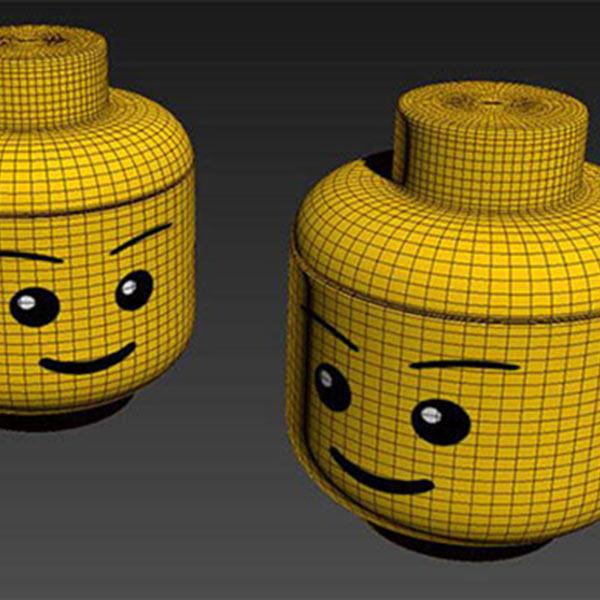 Lego head 3d model