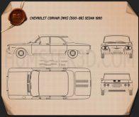 Chevrolet Corvair sedan 1960 Blueprint