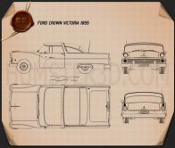 Ford Crown Victoria 1955 Blueprint
