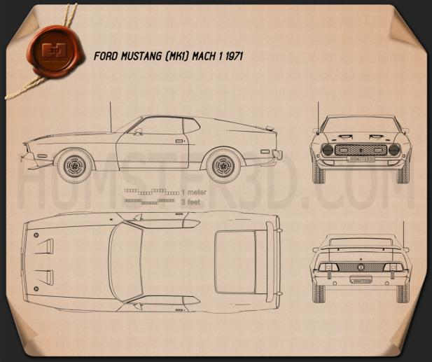 Ford Mustang Mach 1 1971 Blueprint