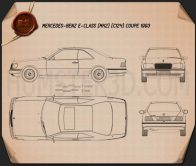 Mercedes-Benz E-class coupe 1993 Blueprint