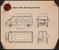 Renault Trafic Panel Van HR 1995 Blueprint